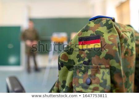 portrait of the young german soldier stock photo © konradbak