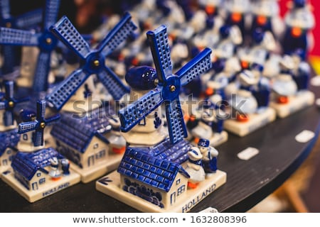 Typical dutch souvenirs on a row Stock photo © michaklootwijk