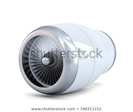 Jet engine. Isolated. Contains clipping path Stock photo © Kirill_M