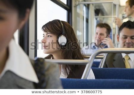 moço · ouvir · música · trem · jornada · homem · homens - foto stock © monkey_business