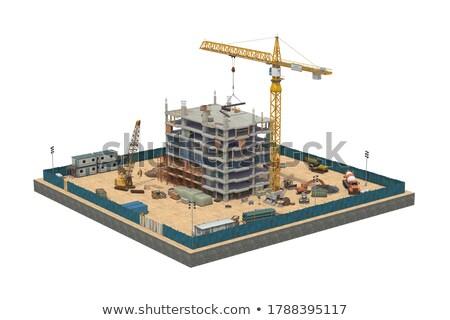 Huisvesting hek bouw rechtdoor nauwkeurig nieuwe Stockfoto © dgilder