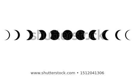 hold · ikonok · eps · égbolt · űr · sötét - stock fotó © muuraa