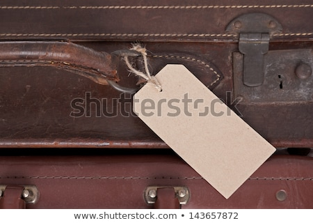 Two old leather suitcases Stock photo © Hofmeester