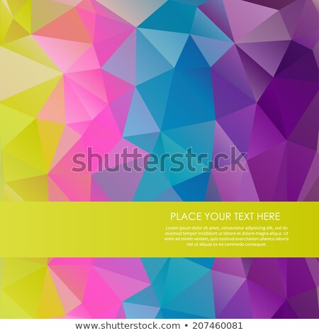 Bright Rainbow Vector Background From Mosaic Triangles Good For Web Website And More Stock fotó © mcherevan