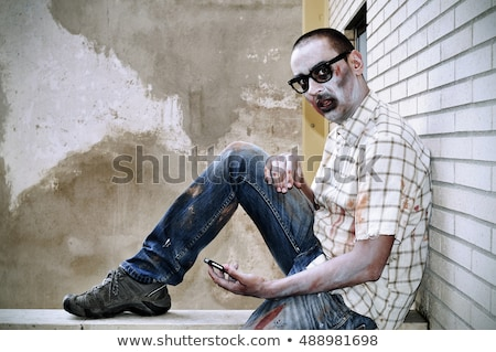zombie with black plastic-rimmed eyeglasses Stock photo © nito