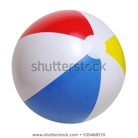 illustrazione · pallone · da · spiaggia · bianco · spiaggia · sport · divertimento - foto d'archivio © tilo