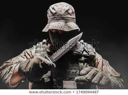 Tattico coltello isolato bianco soldato ciliegio Foto d'archivio © Ximinez