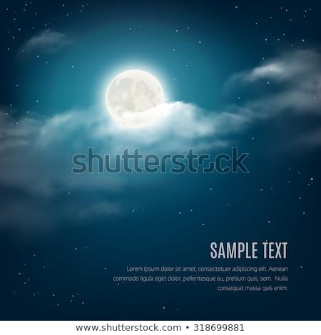 éjszaka tájkép felhős csillagos ég hold égbolt Stock fotó © Juhku