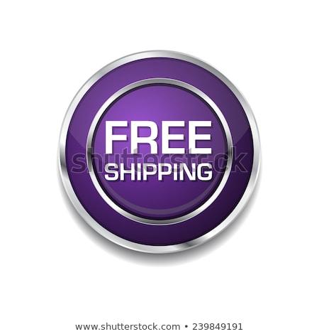 Gratis verzending paars vector knop business Stockfoto © rizwanali3d