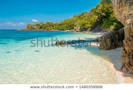 Uninhabited island - view from the sea Stock photo © bubutu