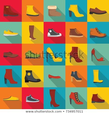 Signora scarpa icona ombra bellezza colore Foto d'archivio © aliaksandra