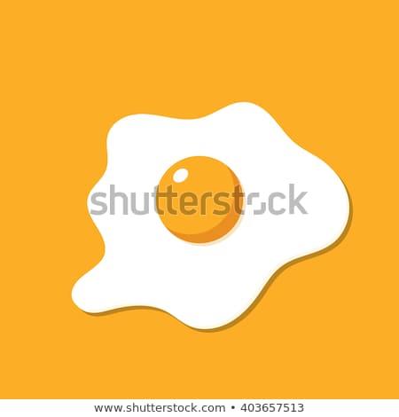 vector logo fried eggs for breakfast stock photo © butenkow