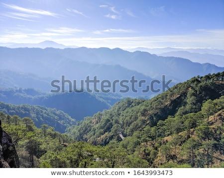 Alcance montanhas Filipinas nebuloso dia ilha Foto stock © joyr