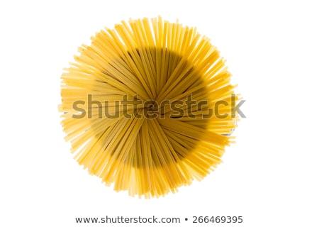 Dried fettuccine arranged in a flower effect Stock photo © ozgur