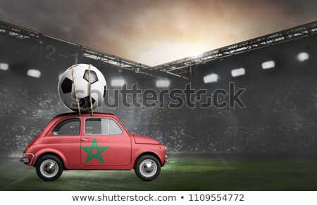 Russia and Morocco - Miniature Flags. Stock photo © tashatuvango
