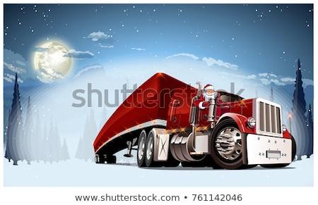 Vector Delivery Retro Light Truck Stock fotó © Mechanik