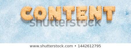 Mektup kelime blog alfabe kurabiye kolaj Stok fotoğraf © vinnstock