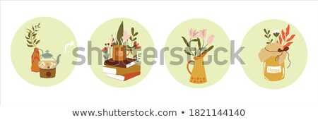 vector graphic colored icon sticker set of drinks and beverages stock photo © feabornset
