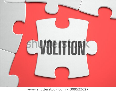 volition   puzzle on the place of missing pieces stock photo © tashatuvango