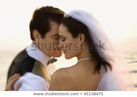 ślub shot oblubienicy portret młodych piękna Zdjęcia stock © Andersonrise