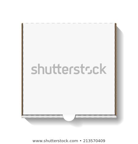 karton · pizza · kutusu · kapalı · yalıtılmış · kırmızı · konteyner - stok fotoğraf © netkov1