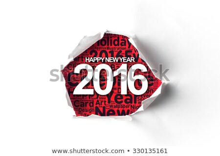 Year 2016 Torn Paper Concept Stock photo © ivelin