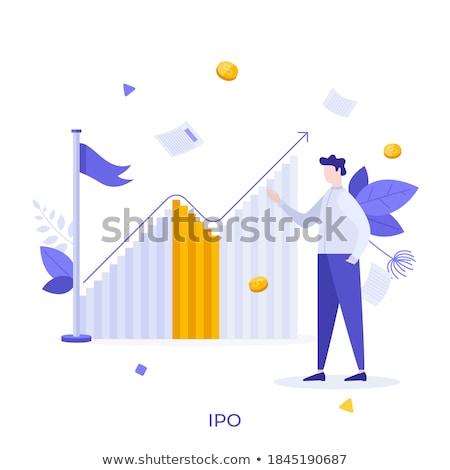 IPO. Poster in Flat Design. Business Concept. Stock photo © tashatuvango