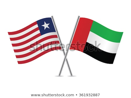 Egyesült Arab Emírségek Libéria zászlók puzzle izolált fehér Stock fotó © Istanbul2009