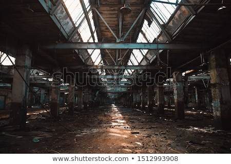 abandoned derelict warehouse stock photo © camel2000