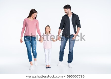 daddy and mommy hold children on the hands Stock photo © Paha_L