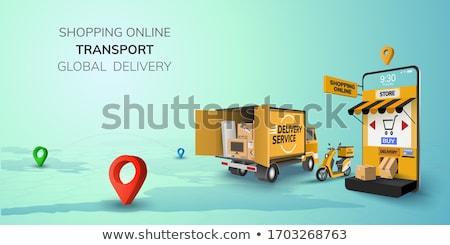 бесплатная доставка желтый вектора икона дизайна цифровой Сток-фото © rizwanali3d