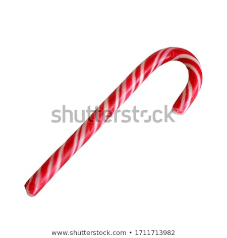 Christmas candy cane on a white wooden background Stock photo © vlad_star