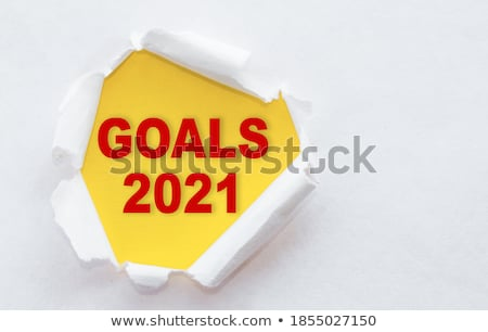 Set Goals Torn Paper Concept Stock photo © ivelin