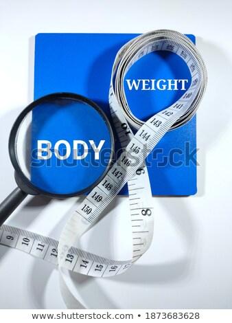 Diety niebieski znacznik strony piśmie przezroczysty Zdjęcia stock © ivelin