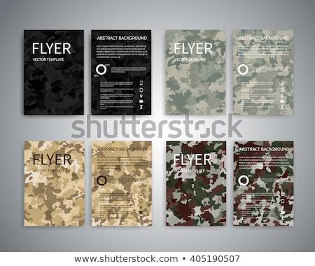 Hadsereg infografika grafikus sablon eps 10 Stock fotó © netkov1