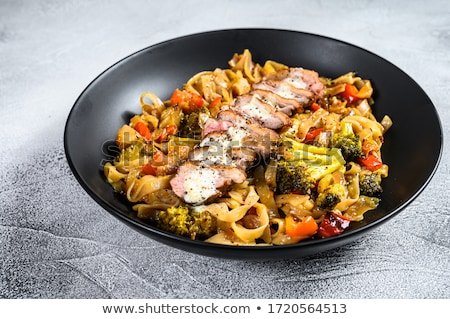 duck breast with fried noodles stock photo © joker