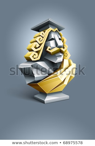 antique sculpture bust of wise professor Stock photo © LoopAll