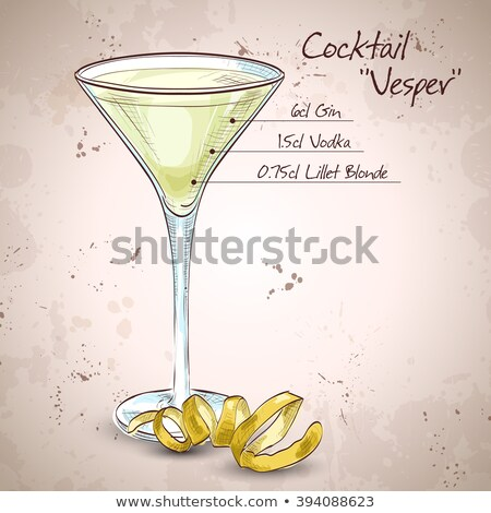 Stock photo: Cocktail Vesper mixed drink