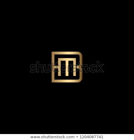 Simple monogram design template, Elegant lineart logo. Letter M Stock photo © Fractal86