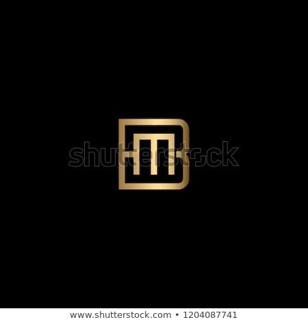 Simples monograma modelo de design elegante logotipo letra m Foto stock © Fractal86