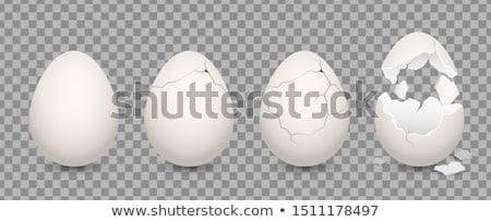сломанной · яйцо · белый · изолированный · фон · яйца - Сток-фото © serg64