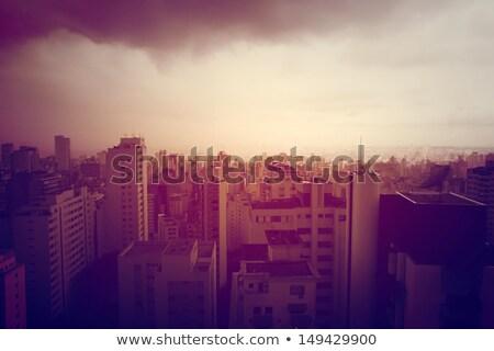 Zanieczyszczenia panoramę Sao Paulo Brazylia ameryka południowa biuro Zdjęcia stock © Spectral