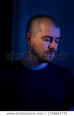 悲しい 頭 実例 白 背景 口 ストックフォト © bluering