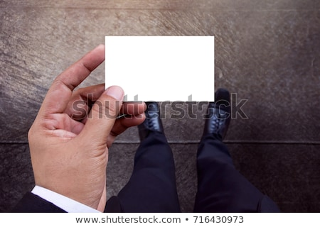 Górę widoku biznesmen wizytówkę Zdjęcia stock © stevanovicigor