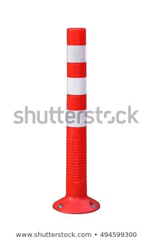 cone on a pole warning stock photo © vividrange