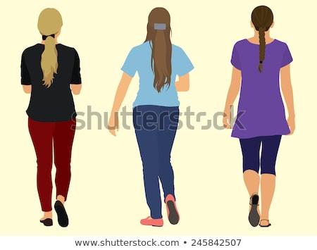 моде · девочек · ходьбе · четыре · красивой - Сток-фото © bluering