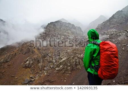 Slechte weer wolken afbeelding Italië landschap veld Stockfoto © magann