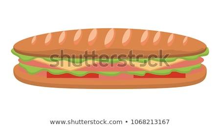 sliced sandwich bread with lettuce stock photo © digifoodstock