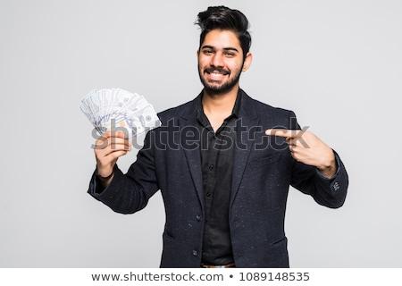 Stock fotó: Arab · vagyonos · férfi · dollár · arab · gazdag