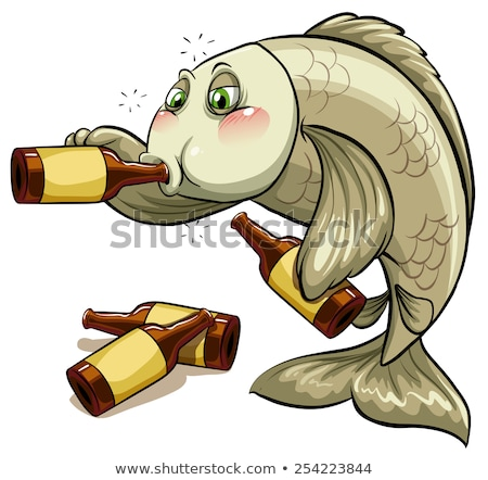 A drunk fish Stock photo © bluering